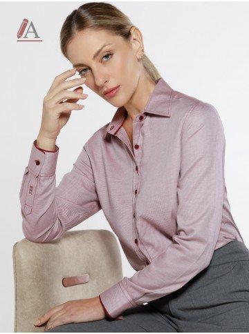 camisa social bordo personalizada maju
