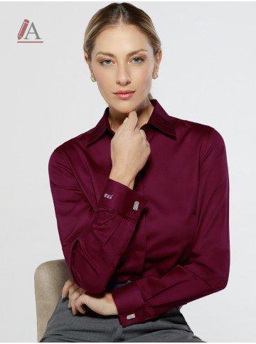 camisa social bordo personalizada lydia