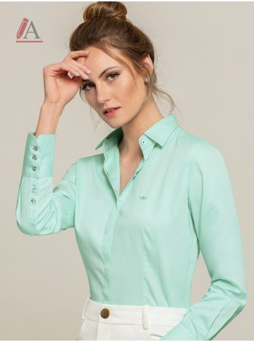 camisa feminina menta personalizada lizzie frente