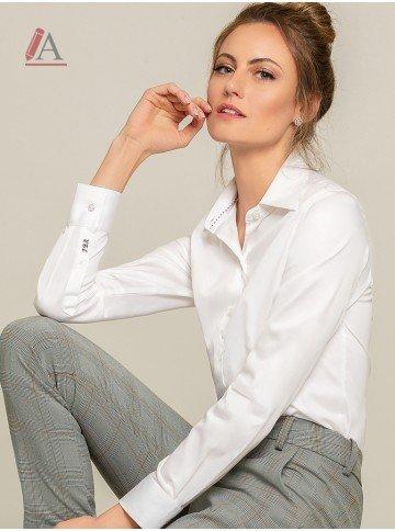 camisa social branca personalizada ava frente